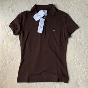 Brown LACOSE Polo, NWT